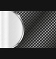 metal perforated background with brushed element vector image