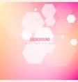modern blur honeycomb pink background image vector image