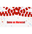 morocco garland flag with confetti on transparent vector image vector image