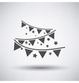 Party Garland Icon vector image