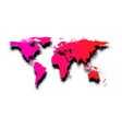 pink abstract world map on white vector image