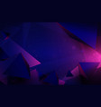 polygonal pyramids and technology futuristic vector image