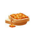 realistic beans toasts vector image
