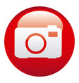 red camera emblem icon vector image vector image