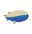 retro air dirigible journey flat vector image