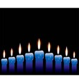 row of candles vector image