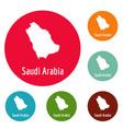 saudi arabia map in black simple vector image vector image