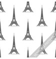 seamless pattern eiffel tower vector image