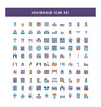 set household icon with filled outline style vector image