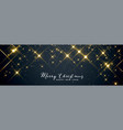 shiny sparkles merry christmas banner design vector image vector image
