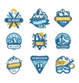 Ski resort logo emblems labels badges vector image vector image