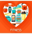 Sports and healthy lifestyle background with vector image vector image