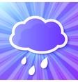 Violet paper cloud frame vector image vector image