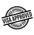 Visa Approved rubber stamp vector image vector image
