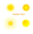 set of sun vector image