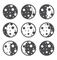 Moon phases vector image