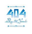 404 page not found vector image vector image