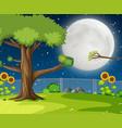 a night garden background vector image vector image