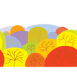 Autumn seamles banner with trees vector image vector image