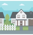 Background of suburban house with fence vector image