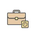 bag briefcase business clock portfolio vector image vector image