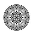 black circle mandala vector image vector image