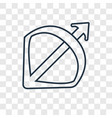bow and arrow concept linear icon isolated on vector image