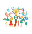 business people meeting brainstorm flat set vector image