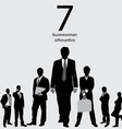 Businessman silhouettes vector | Price: 1 Credit (USD $1)
