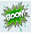 cartoon comic graphic design for explosion blast vector image vector image