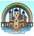 castle colorful of vector image