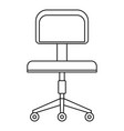 chair icon outline style vector image vector image