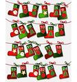 Christmas calendar vector image vector image