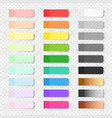 colored realistic sticky notes isolated vector image vector image