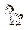 colorless zebra isolated on vector image