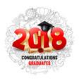 congratulations graduates vector image vector image