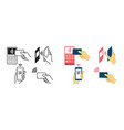 contactless payment concept wireless symbols vector image