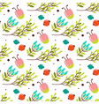 cute seamless pattern with forest plants vector image