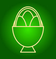 easter eggs in the basket icon vector image vector image