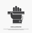 education hand learn learning ruler icon glyph vector image vector image