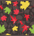 fall seamless forest pattern with stylized autumn vector image vector image