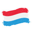 flag of luxembourg grunge abstract brush stroke vector image