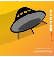 Flat modern web button with long shadow and space vector image vector image