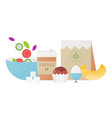 fresh healthy breakfast vector image vector image