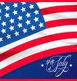 happy independence day or 4th july background vector image vector image