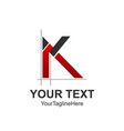 initial letter k logo design template element vector image