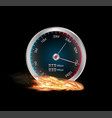 internet speed test meter vector image vector image