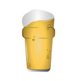 isolated beer glass vector image