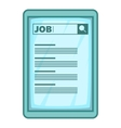 Job searching icon cartoon style vector image