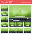 Line Calendar for 2016 Year Design Print Template vector image
